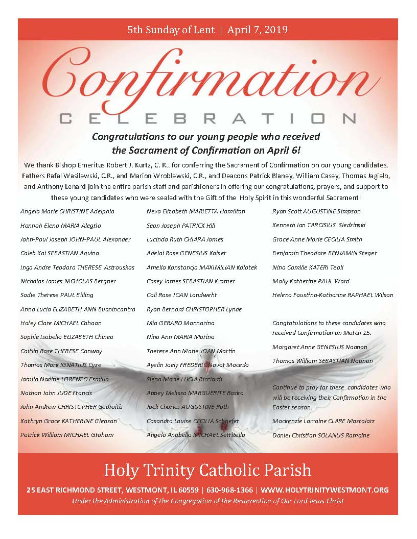 Holy Trinity Church Current Bulletin